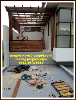 membuat pergola untuk rooftops - tukang pembuatan pergola kayu