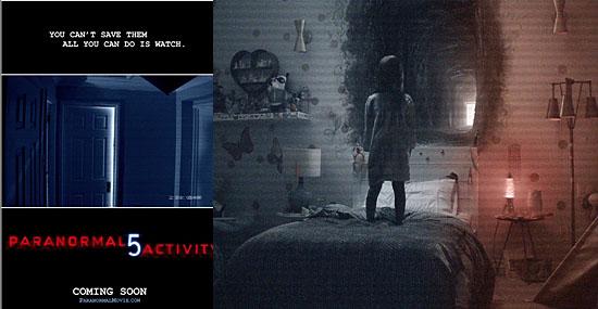 Filme Atividade Paranormal dimensão fantasma - Capa e cena
