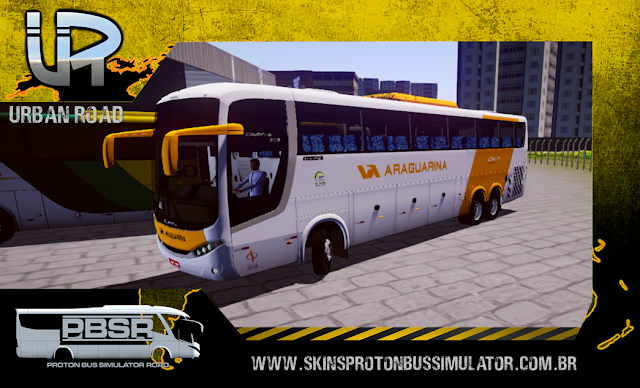 Skin Proton Bus Simulator Road - Comil Campione MB 0500 RSD Viação Araguarina