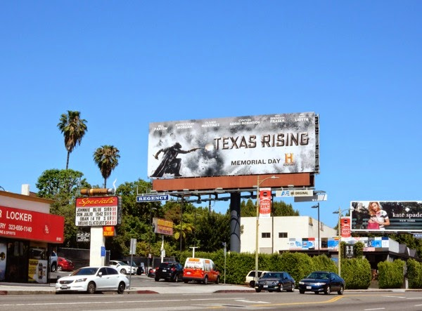 Texas Rising series billboard