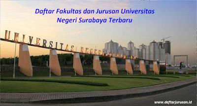 Daftar Fakultas dan Jurusan UNESA Universitas Negeri Surabaya Terbaru