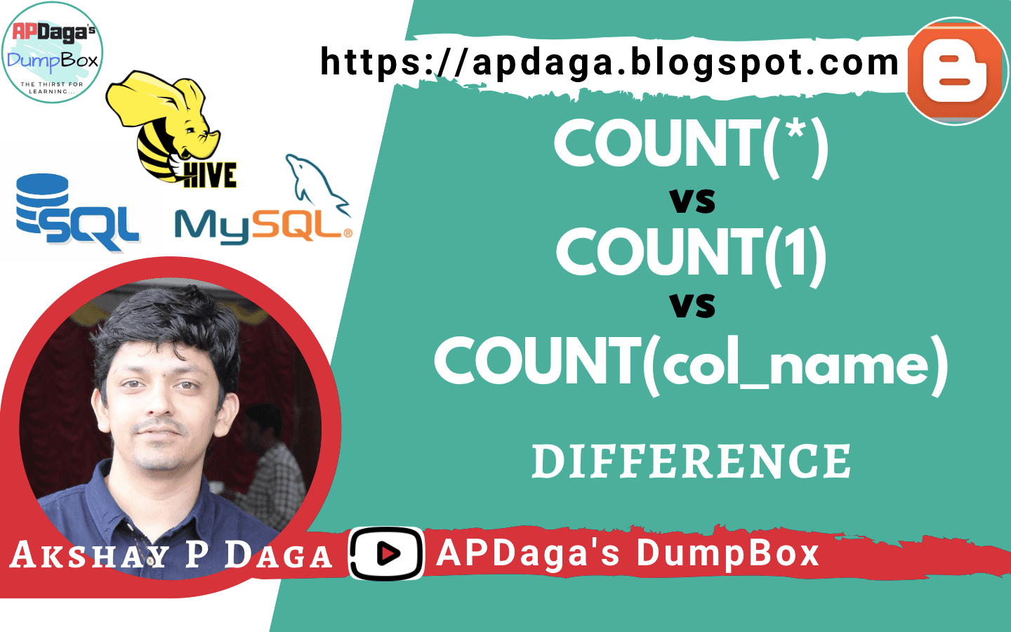 Difference in COUNT(*) vs COUNT(1) vs COUNT(col_name) in SQL
