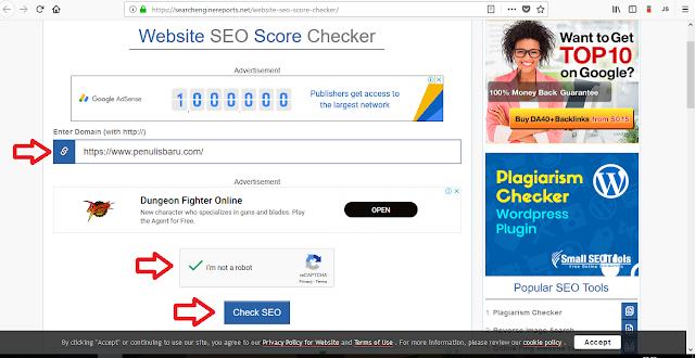 Cara Cek SEO Score Blog atau Website 1