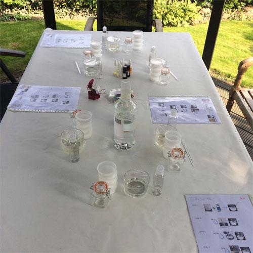 voorbereiding zeepparty verjaardagsfeestje