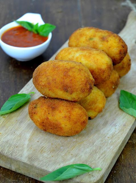 Croquetas de arroz italianas Supplí alla romana