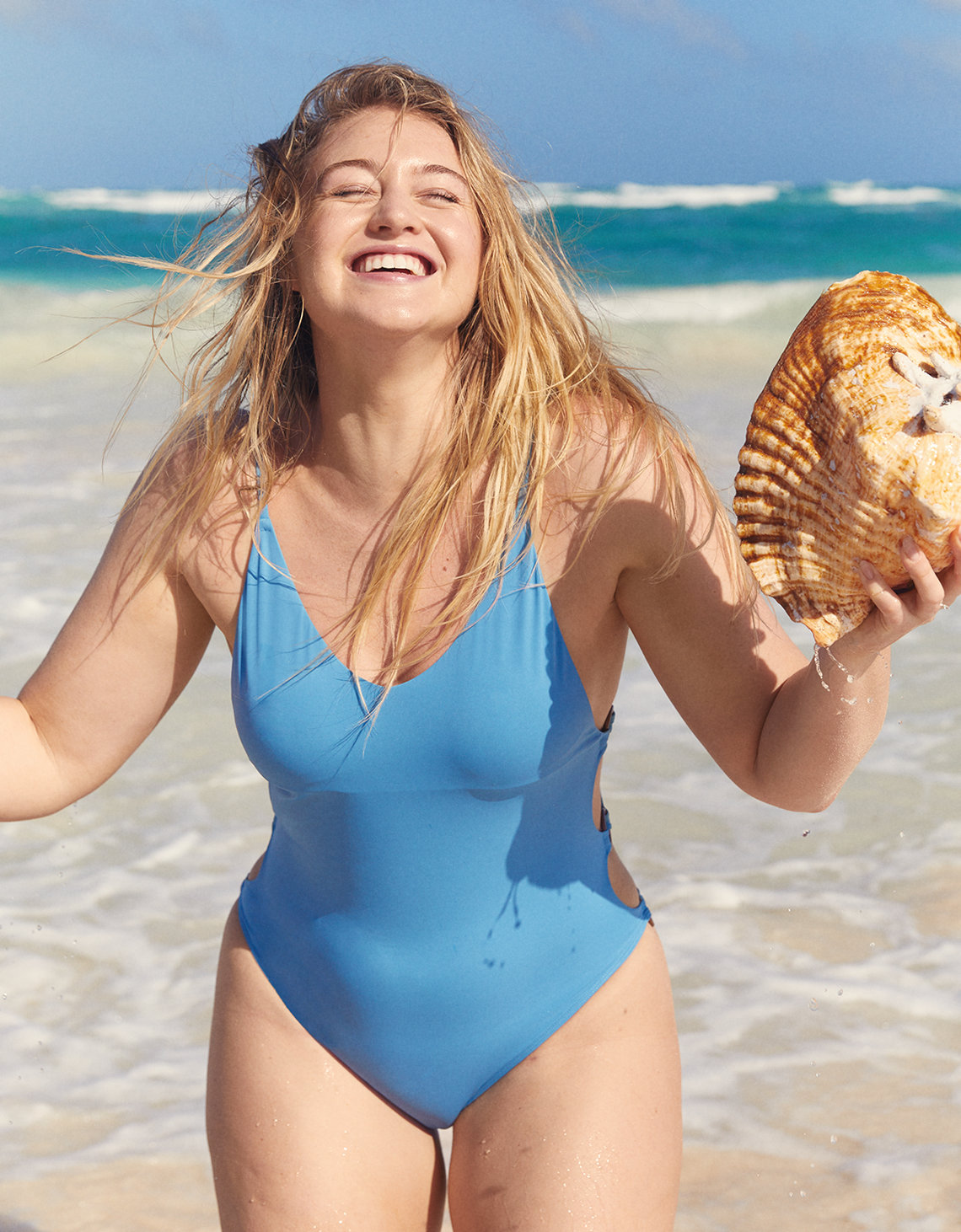Blue Aerie one piece swimsuit
