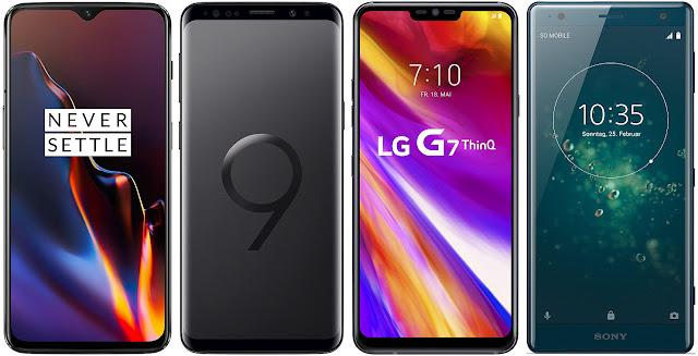 OnePlus 6T vs Samsung Galaxy S9 vs LG G7 ThinQ vs Sony Xperia XZ2