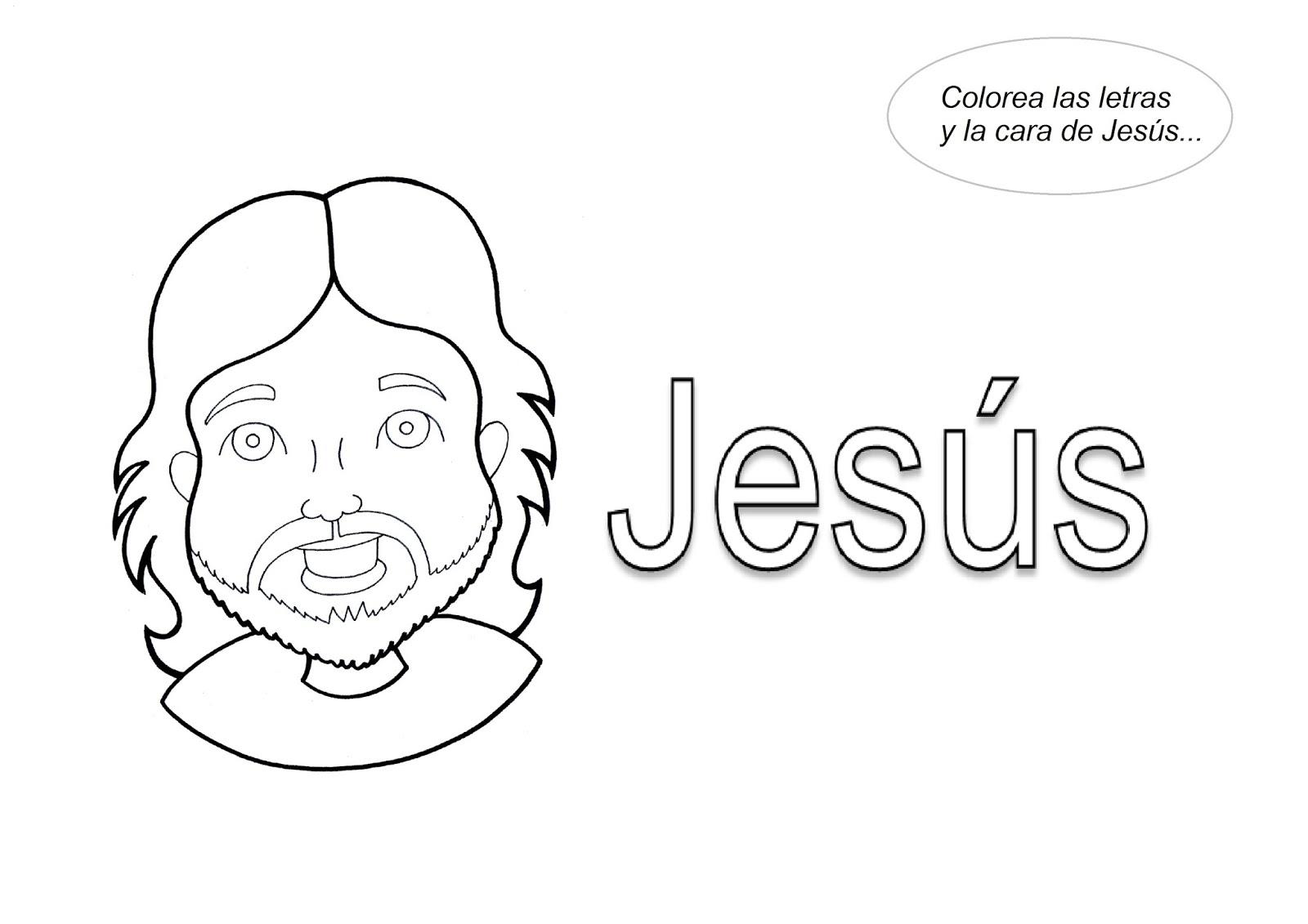 El Rincón de las Melli: JESÚS para colorear para los más chiquitos