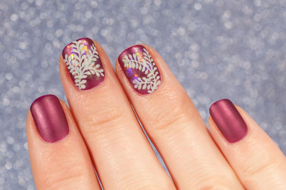 Pink Fuchsia OPI Kiss Me or Elf Nail Art