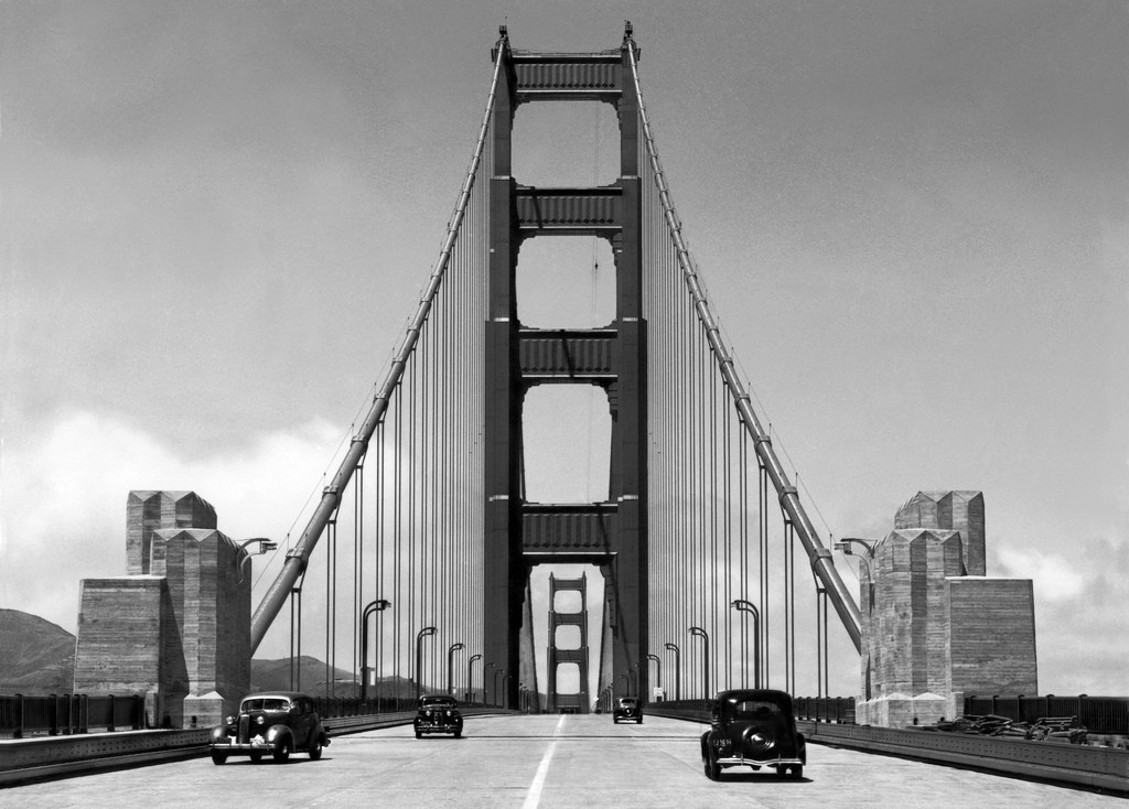 The Golden Gate Bridge In San Francisco Ca 1940 Vintage