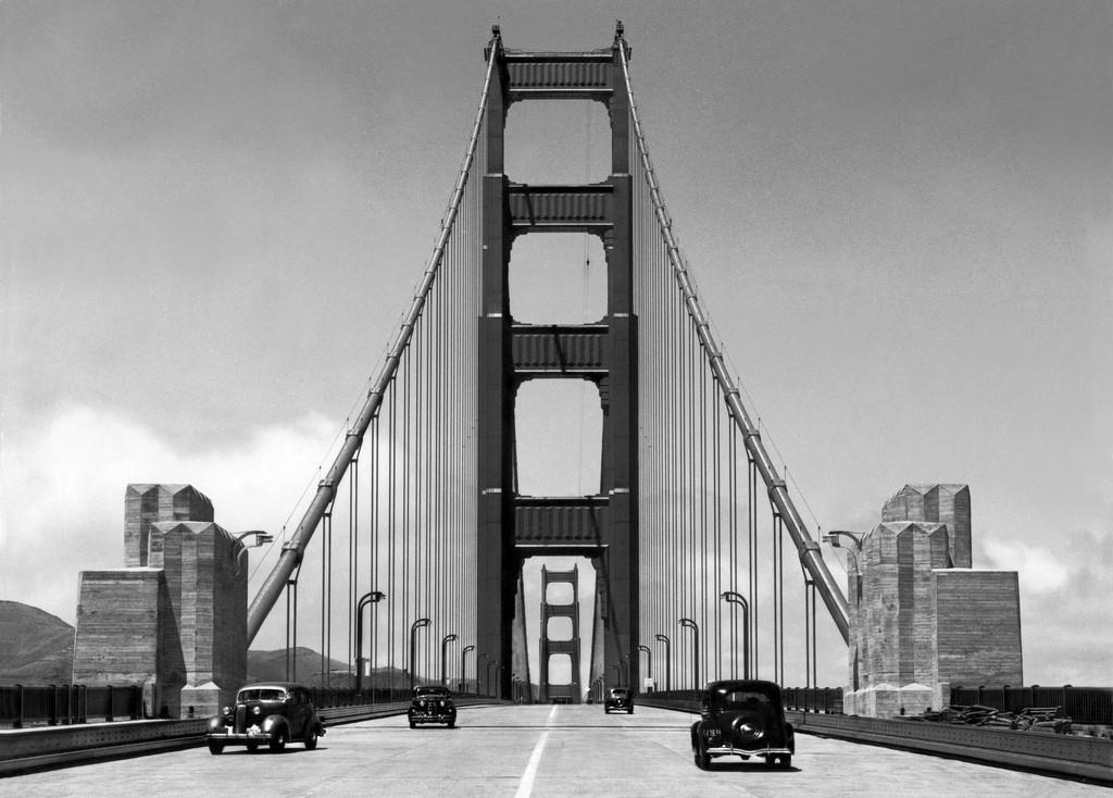 The Golden Gate Bridge In San Francisco Ca 1940 Vintage