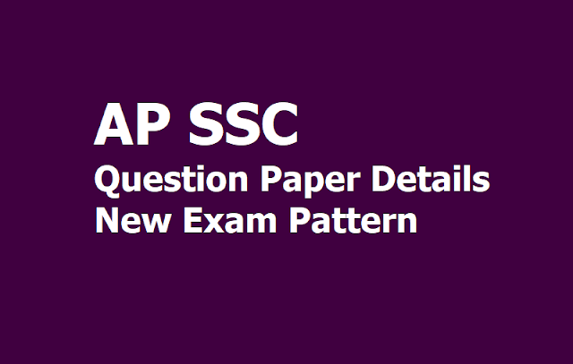 AP SSC Question Paper Changes, Exam Pattern & No bit paper, no internal marks in AP SSC Exam 2020