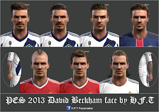 Facepack David Beckham 2016 Pes 2013 by H.F.T