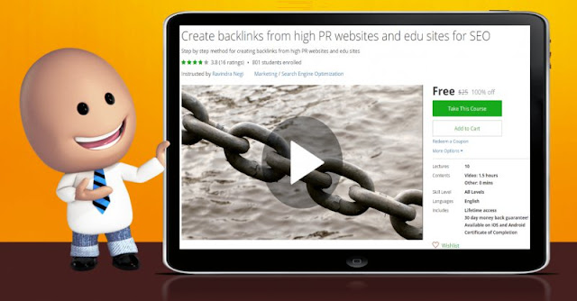 [100% Off] Create backlinks from high PR websites and edu sites for SEO| Worth 25$