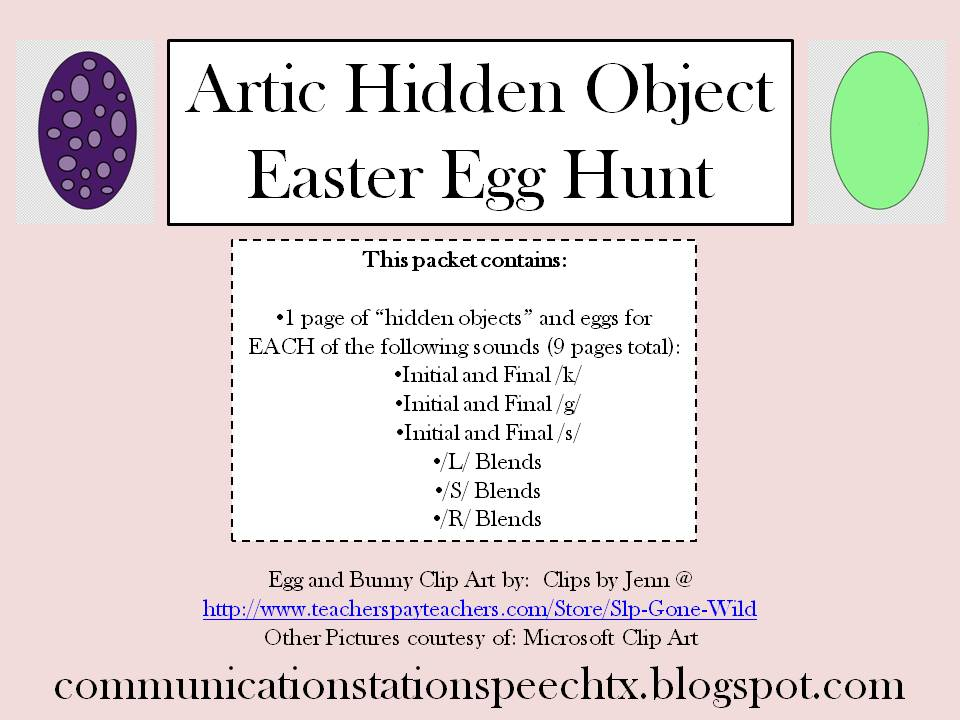 Communication Station Speech Therapy PLLC FREEBIE Friday Artic - microsoft word easter egg