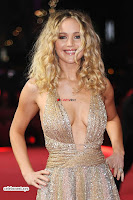 Jennifer Lawrence in a golde glittering gown at Red Sparrow Premiere in London ~  Exclusive Galleries 010.jpg