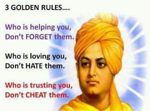 Motivational Quotes - 3 Golden rules by Swamit Vivekananda