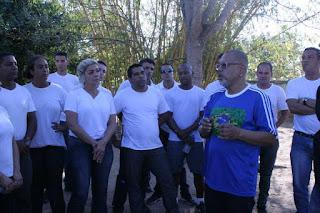 Recrutas da Guarda Municipal de Araruama (RJ) participam de aula em Morro Grande