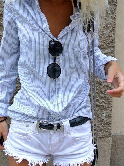 10 stylish Tips to wear Denim CutOff Shorts
