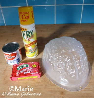 Items for making a Jello brain