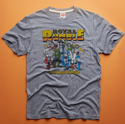 WWE Royal Rumble T-Shirt Collection by HOMAGE