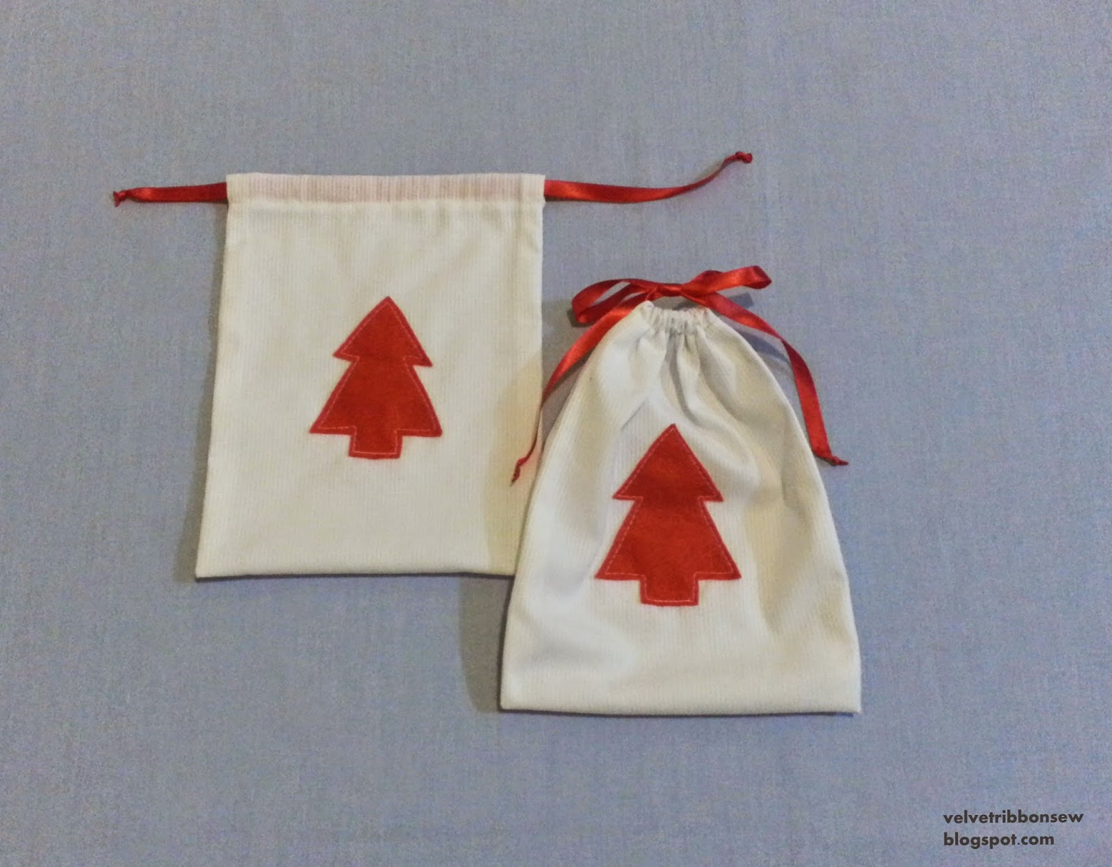 Christmas goodie bags with tutorial