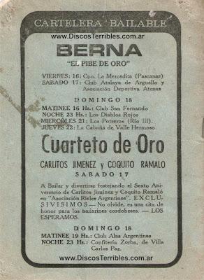 Cuarteto de Oro / Berna - Carteleras / Discos Terribles