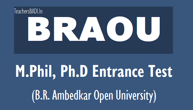 BRAOU M.Phil Ph.D Entrance Test Results