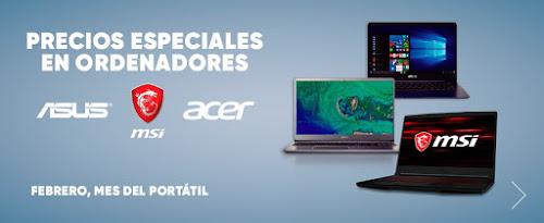 Mejores ofertas Precios especiales en ordenadores Asus, MSI y Acer de Fnac