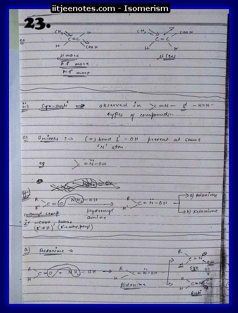 Isomerism Notes7