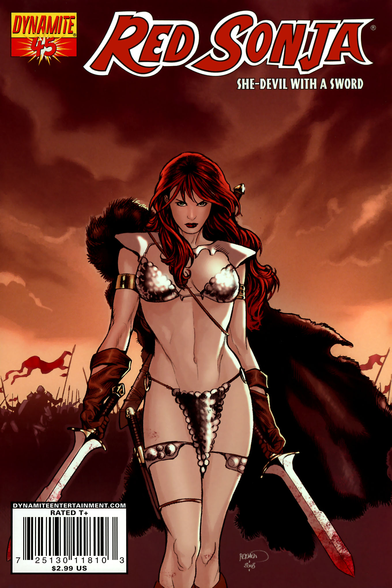 Read online Red Sonja (2005) comic -  Issue #45 - 1