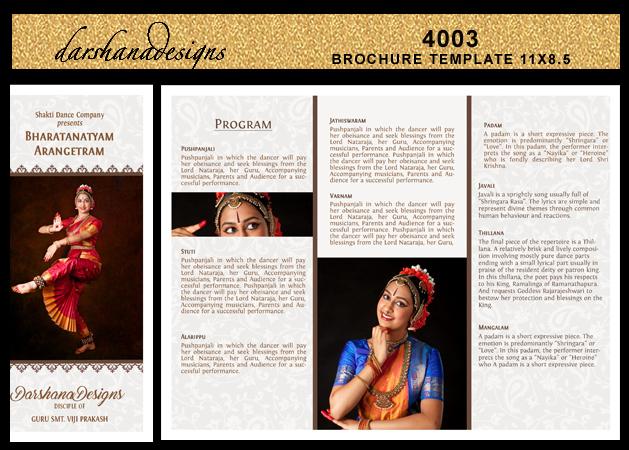 darshanadesigns  arangetram brochure templates