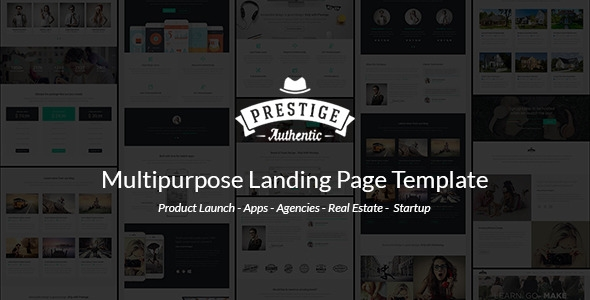 Download Prestige Multipurpose Responsive Landing Page Template