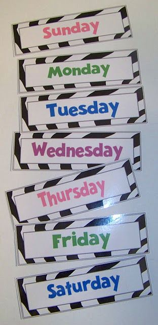 ايام الاسبوع بالانجليزي 9