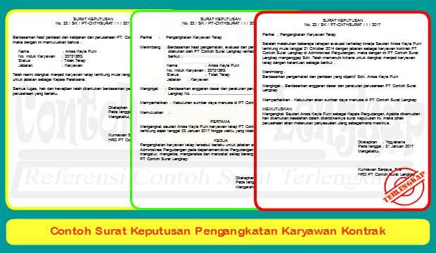 4 Contoh Surat Keputusan Pengangkatan Karyawan Kontrak