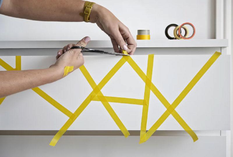 personalizzare la cassettiera MALM di IKEA