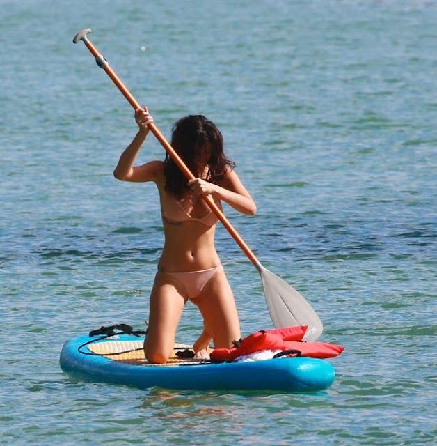 Alexandra Rodriguez in a Beige Colored Bikini in Miami