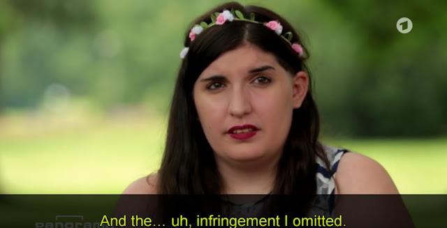 """Video Screen Capture:  Selin Goren Describes Her """"Infringement"""""""