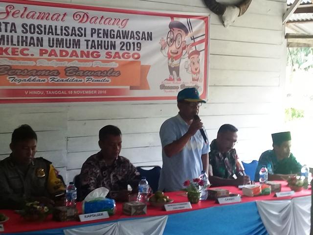 Dorong Keterlibatan Masyarakat, Panwascam Padang Sago Gelar Sosialisasi Pengawasan Pemilu Partisipatif