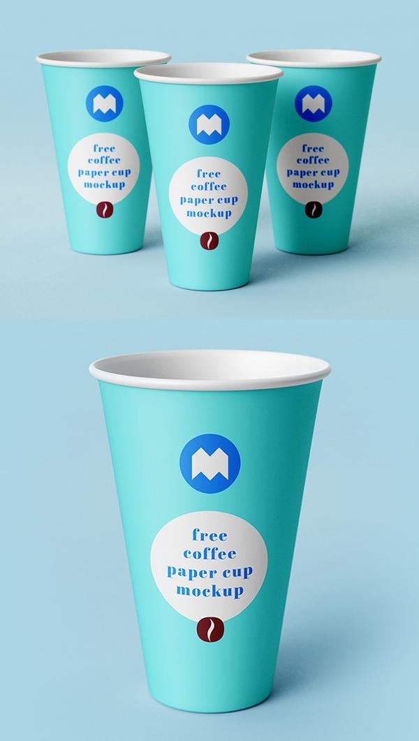 Mockup terbaru 2017 gratis - Free Coffee Paper Cup PSD Mockup