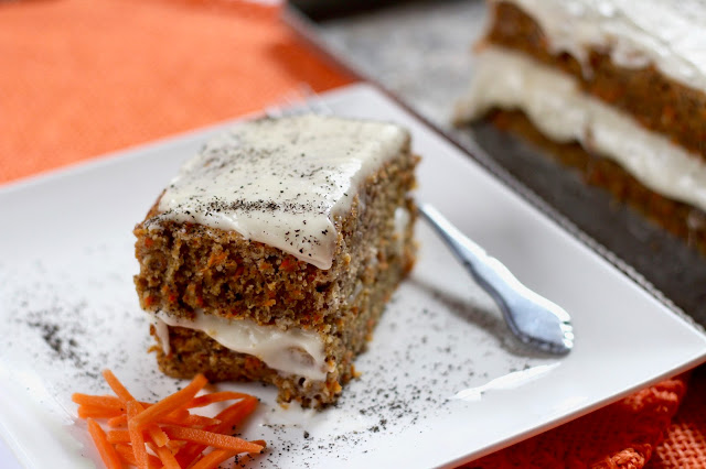 Diary of a Mad Hausfrau: Carrot Hazelnut Cake with Black ...