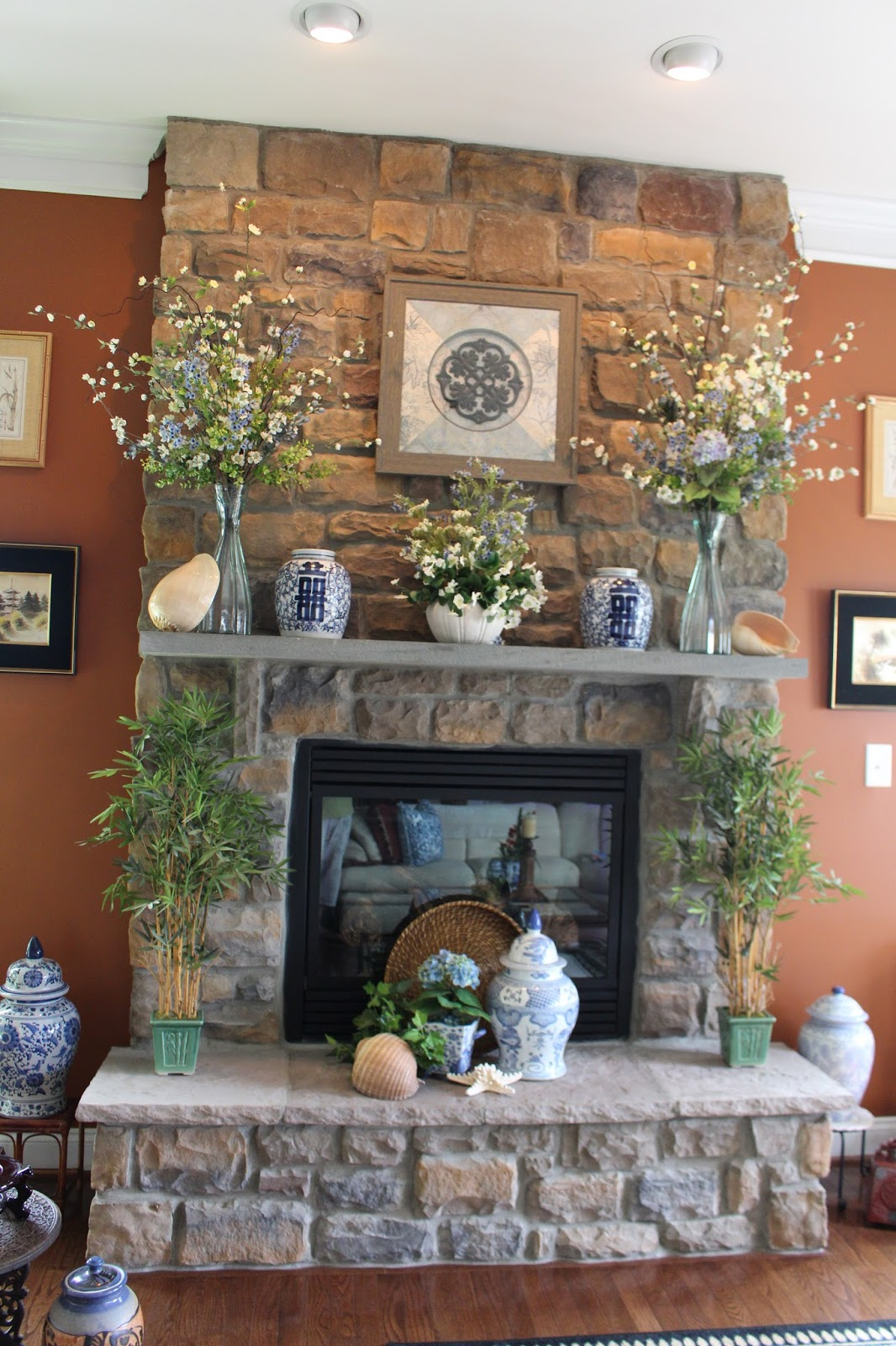 Designs By Pinky Summerizing The Mantle And Hearth