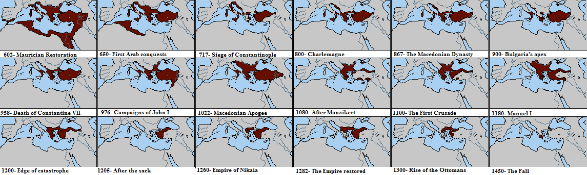 The rise and fall of the Byzantine Empire (602 - 1450)