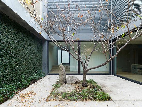 model Taman minimalis di tengah bangunan