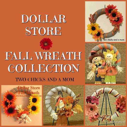 Dollar Store Fall Wreath Collection