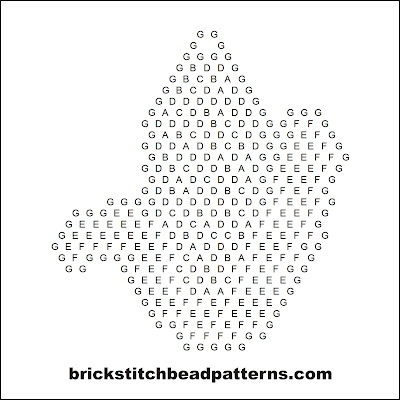 Click for a larger image of this brick stitch bead pattern word chart.