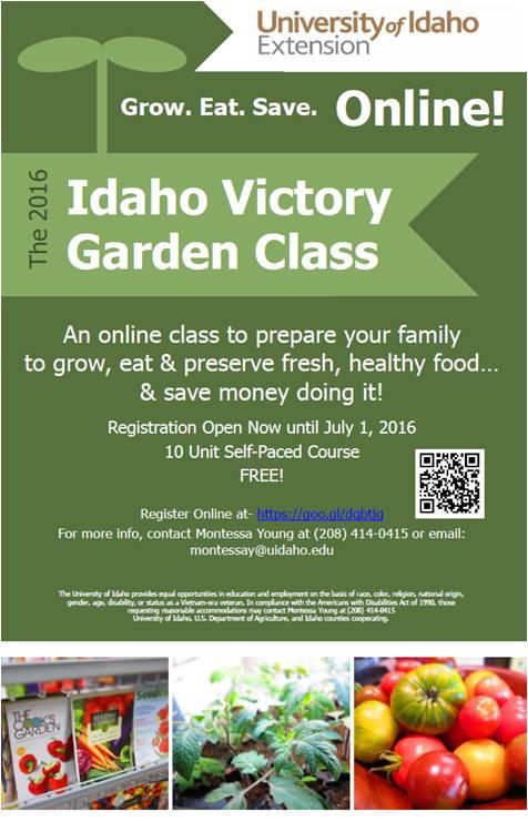 Central Idaho Extension Free Idaho Victory Garden Class