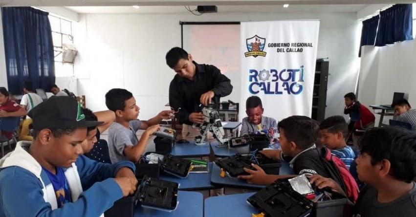 Región Callao lanza innovador taller de robótica para escolares, con el objetivo de desarrollar sus capacidades y habilidades científicas