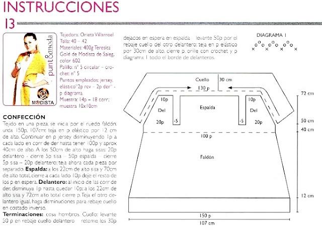 Chaleco Tricot Recto Instrucciones