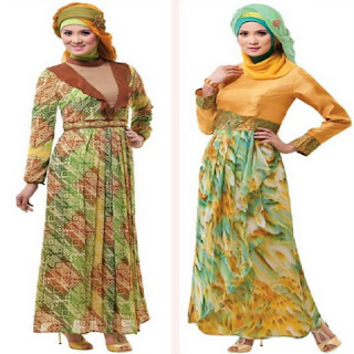 model baju hijab brokat